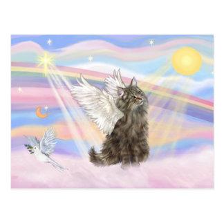 Tabby Norwegian Forest Cat  - Angel Postcard