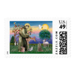 Tabby Norwegian Forest Cat - St Francis Postage Stamp
