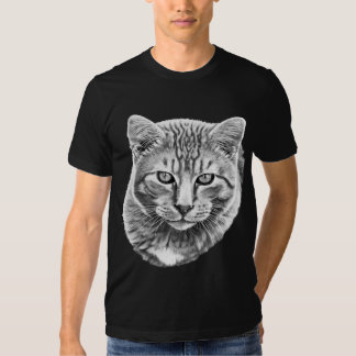 Tabby Painting Grayscale T-shirt