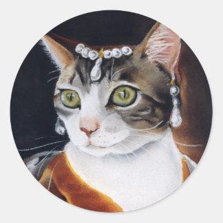 Tabby Princess Classic Round Sticker