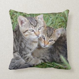 Tabby Sisters Throw Pillow