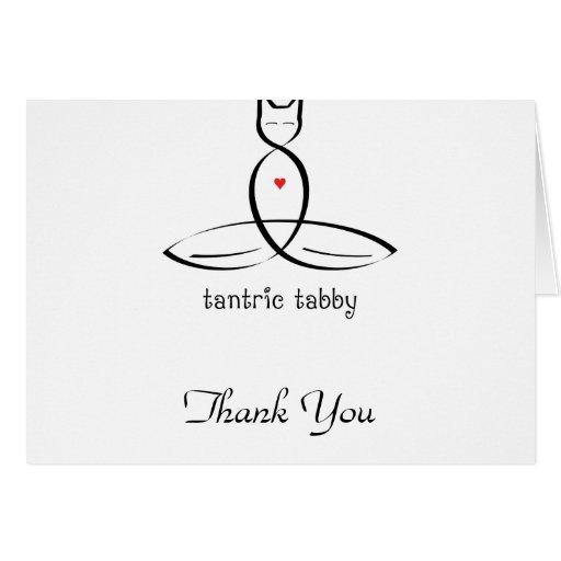 Tabby Tantric - texto de lujo del estilo Tarjeton
