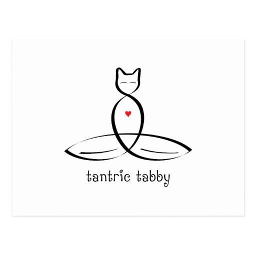 Tabby Tantric - texto de lujo del estilo Postales