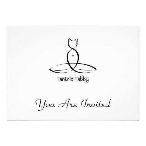 Tabby Tantric - texto sánscrito del estilo Invitacion Personal