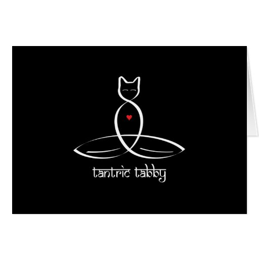Tabby Tantric - texto sánscrito del estilo Tarjeta