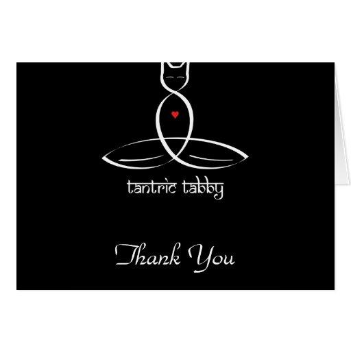 Tabby Tantric - texto sánscrito del estilo Felicitacion