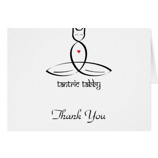 Tabby Tantric - texto sánscrito del estilo Felicitación