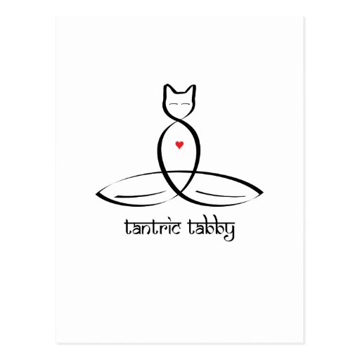 Tabby Tantric - texto sánscrito del estilo Tarjeta Postal