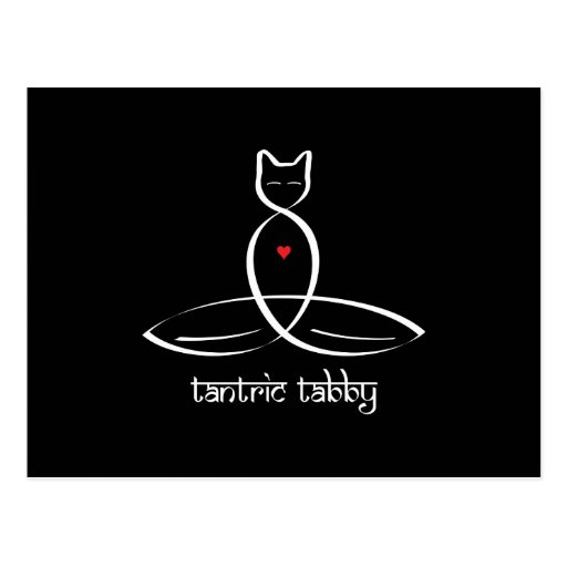 Tabby Tantric - texto sánscrito del estilo Postales
