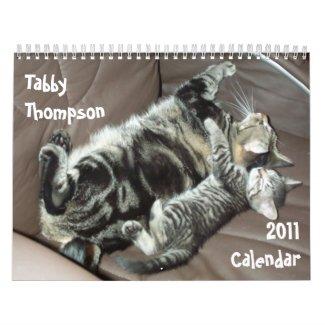 Tabby Thompson 2011 Calendar calendar