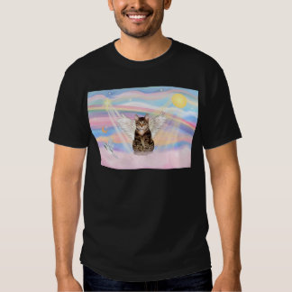 Tabby Tiger Cat Angel in Clouds T-shirt