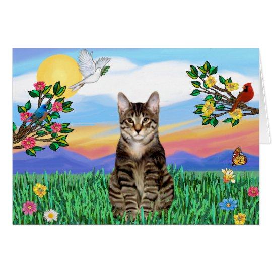 Tabby Tiger Cat - Bright Life Card