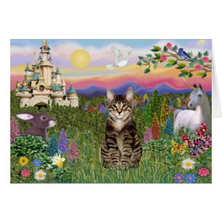 Tabby Tiger Cat  - The Castle Card