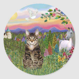 Tabby Tiger Cat  - The Castle Classic Round Sticker