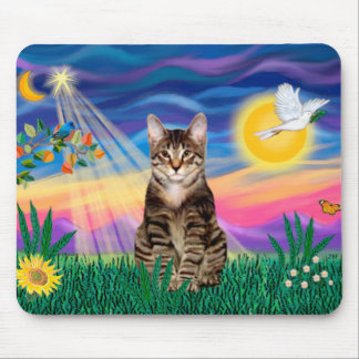 Tabby Tiger Cat - Twilight Mouse Pad