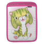 """Tabby Tom"" Green Cat iPad Sleeve"
