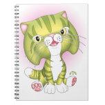 """Tabby Tom"" Green Cat Notebook"