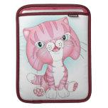 """Tabby Tom"" Pink Cat iPad Sleeve"