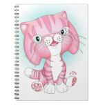 """Tabby Tom"" Pink Cat Notebook"