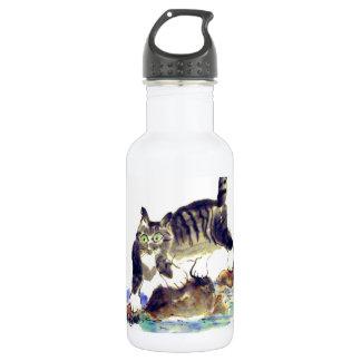 Tabby Trek - Tiger kitty's Adventure Stainless Steel Water Bottle