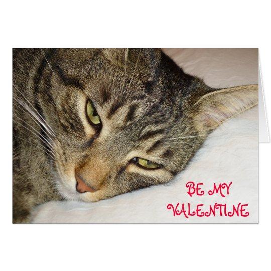 Tabby Valentine Card