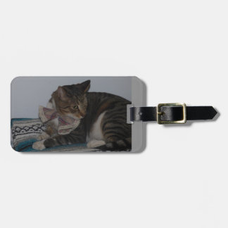 Tabby with Bow Tie Luggage Tag
