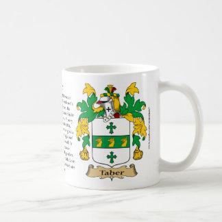 Taber, el origen, el significado y el escudo taza de café