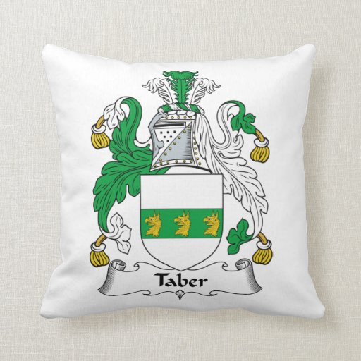 Taber Family Crest Pillow