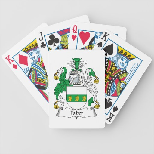 Taber Family Crest Bicycle Card Decks