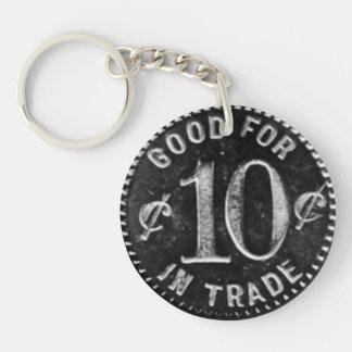 Taberna de Pajakowski símbolo de 10 centavos Llavero Redondo Acrílico A Doble Cara