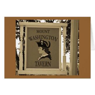 Taberna de Washington del soporte Tarjeta De Felicitación