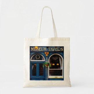 Taberna del museo, barra de Londres, Pub azul Bolsa Tela Barata