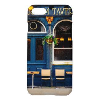 Taberna del museo, barra de Londres, Pub azul Funda Para iPhone 7