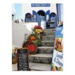 taberna griega en Santorini, Grecia Postales