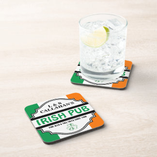 Taberna irlandesa personalizada del Pub para los p Posavasos De Bebidas