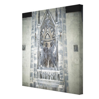 Tabernacle with Four Crowned Saints Canvas Print