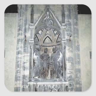 Tabernacle with Four Crowned Saints Square Sticker