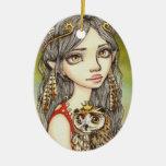 Tabitha and her Royal Owlet Christmas Ornament