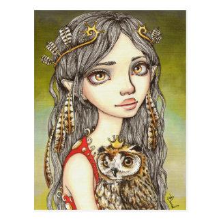 Tabitha and her Royal Owlet Postcard