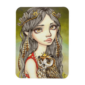 Tabitha and her Royal Owlet Rectangular Photo Magnet