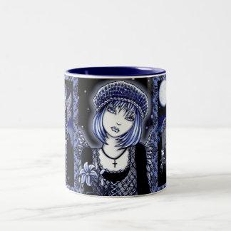 """Tabitha"" Blue Gothic Angel Art Mug"