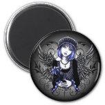 """Tabitha"" Gothic Flower Angel Fridge Magnets"