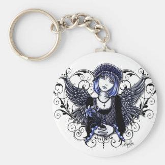 """""""Tabitha"""" Gothic Guardian Angel Keychain"""