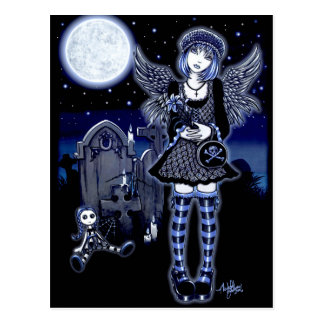 """Tabitha"" Gothic Guardian Angel Postcard"