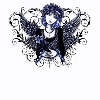 Tabitha Victorian Angel Heart Scroll Tank shirt