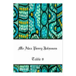 Tabla aborigen del boda que asienta el azul del vi tarjetas personales