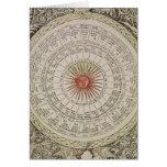 Tabla astrológica del Sun Tarjeta De Felicitación