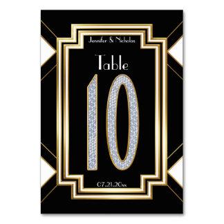 Tabla atractiva número diez del boda de diamante