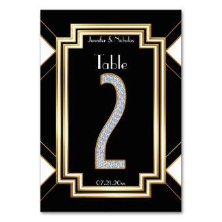 Tabla atractiva número dos del boda de diamantes
