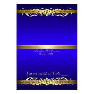 Tabla azul Placecard de la voluta de la grande Tarjetas De Visita Grandes